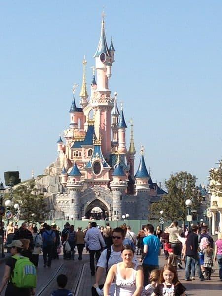 Det flotte disneyland prinsesse slottet